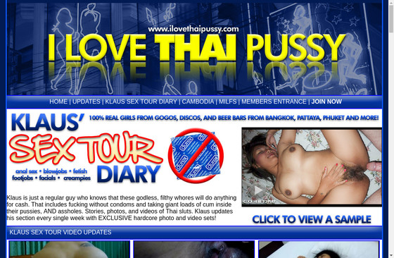I Love Thai Pussy Sex Tour Diary