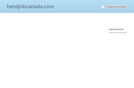 Hand Job Canada