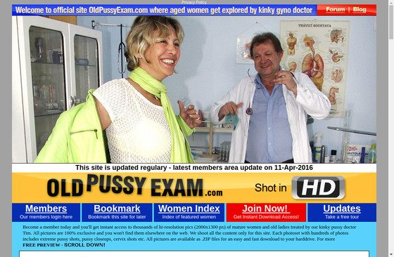 Old Pussy Exam