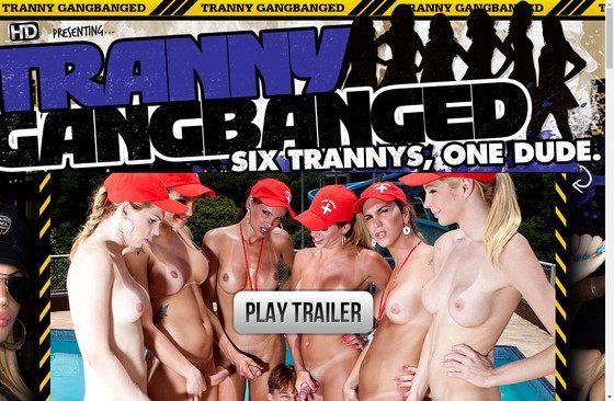 Tranny Gangbanged