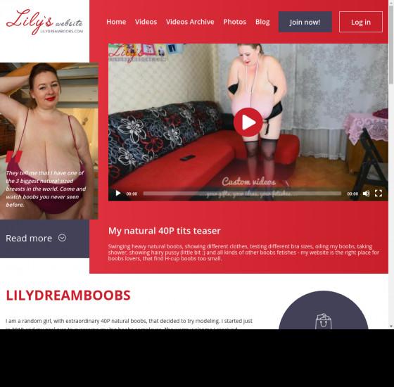 lily dream boobs